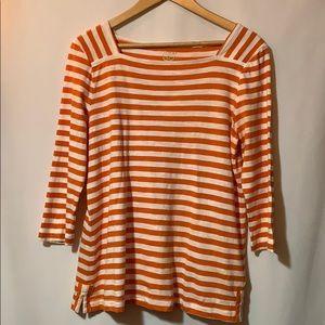 Zenergy Orange stripe cotton top